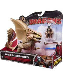 DREAMWORKS DRAGONS VALKA & CLOUDJUMPER DELUXE DRAGON RIDERS