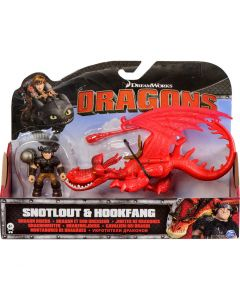 DREAMWORKS DRAGONS DRAGON RIDERS 2-PACK SNOTLOUT & HOOKFANG
