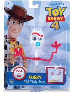 TOY STORY 4 PULL 'N GO FORKY With Wacky Action