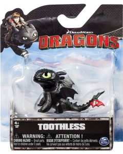DREAMWORKS DRAGONS TOOTHLESS (SITTING) MINI DRAGON
