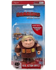 "HTTYD HUMANS W1 ACTION VINYLS 3"" FISHLEGS (FLOCKED FUR)"