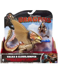 DREAMWORKS DRAGONS VALKA & CLOUDJUMPER DELUXE DRAGON RIDERS (UNMASKED)