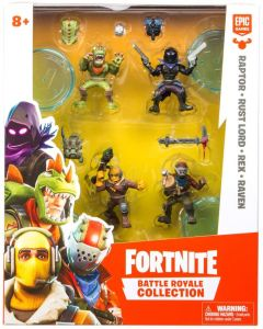 FORTNITE BATTLE ROYALE COLLECTION: SQUAD PACK (raptor, rust lord, rex, raven)
