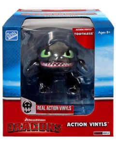 """HTTYD DRAGONS W2 ACTION VINYLS 7"""" TOOTHLESS"""