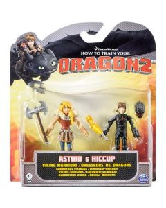 HOW TO TRAIN YOUR DRAGON 2 ASTRID & HICCUP VIKING WARRIORS 2-PACK