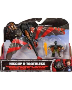 DREAMWORKS DRAGONS DRAGON RIDERS 2-PACK HICCUP & TOOTHLESS (STRIPES)