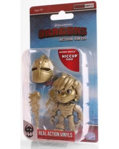 """HTTYD HUMANS W1 ACTION VINYLS 3"""" HICCUP (GOLD)"""
