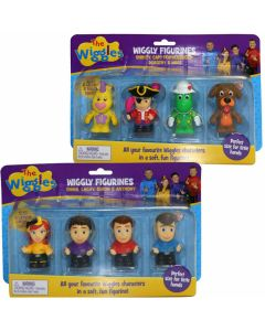 THE WIGGLES WIGGLY FIGURINES 4 PACK (x2 Packs)