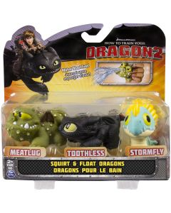 HOW TO TRAIN YOUR DRAGON 2 SQUIRT & FLOAT DRAGONS 3-PACK