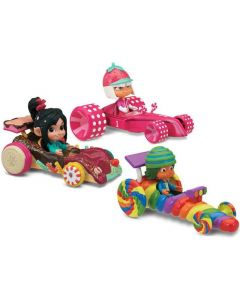 WRECK-IT RALPH SUGAR RUSH RACER & KART COMPLETE SET